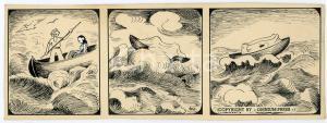 1940ca DRUMPIE'S DOLLE ADVENTUREN Colonial comic strip 60 - A. REUVERS *RARE