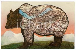 1920 ca SCHWEIZ - KANTON BERN Thunersee - Brienzersee ILLUSTRATED Postcard FP NV
