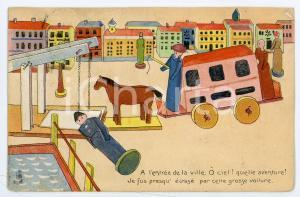 1907 JOUETS L'entrée de la ville - Carte postale ILLUSTRÉE FP NV