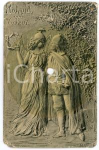 1910 ca FONOSCOPE Roland and Victoria - Recorder Postcard DAMAGED FP NV