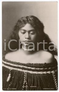 1910ca NEW ZEALAND - ETHNIC Maori woman - Postcard FT Series 9650