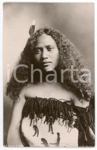 1910ca NEW ZEALAND - ETHNIC Maori maiden - Postcard FT Series 9660