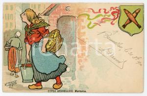1900 BRUXELLES - BELGIQUE Types bruxellois - Marianne - Carte postale ILLUSTRÉE