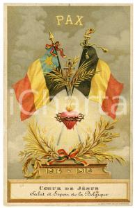 1919 WW1 - BELGIQUE Pax - Coeur de Jésus - Carte postale ILLUSTRÉE FP NV