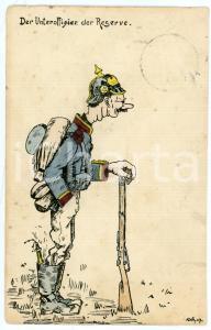 1909 ca GERMANY - SATIRE Old soldier - Unteroffizier der reserve - Postcard FP