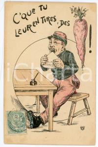 1905 FRANCE HUMOUR C'que tu leur entires, des carottes - Carte postale ILLUSTRÉE