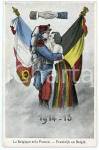 1914-15 WW1 La Belgique et la France - Carte postale ILLUSTRÉE FP NV