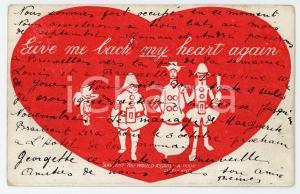 1907 BELGIUM Give me back my heart again ILLUSTRATED Postcard FP VG