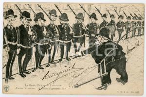 1900 ca BELGIQUE - SATIRE Garde civique - L'exercise - Carte postale ILLUSTRÉE