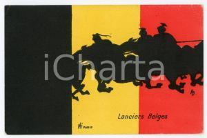 1920 ca BELGIQUE Lanciers belge Carte postale ILLUSTRÉE FP NV