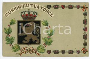 1927 BELGIUM Coat of arms - L'union fait la force - Embossed postcard FP NV