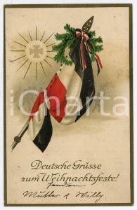 1915 ca WW1 - CHRISTMAS Deutsche grusse zum Weihnachsfeste ILLUSTRATED Postcard