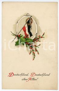 1915 WW1 Deutschland, Deutschland uber alles! ILLUSTRATED Postcard FP NV