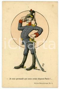 1915 ca WW1 - SATIRE Je suis persuadé que nous avons dépassé Paris - Postcard