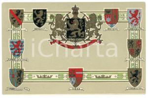 1905 BELGIUM Coat of arms - L'union fait la force - Embossed postcard FP NV