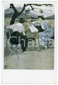 1915 WW1 Kriegspostkarten von B. WONNERBERG Soldier with arm in plaster Postcard