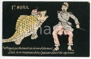 1905 FRANCE 1er AVRIL Le poisson d'avril du regiment - Carte postale ILLUSTRÉE