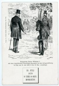 1900 ca EMS Franco-Prussian War - Wilhelms I and Vincent BENEDETTI Carte postale