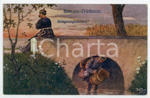 1915 ca Artist Arthur THIELE Hamster-erlebnisse - Belagerungszustand - Postcard