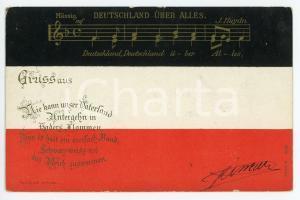 1901 DEUTSCHLAND UBER ALLES Die kann unser vaterland ILLUSTRATED Postcard