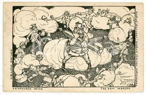 1914 WW1 - SATIRE The new weapon - Kaiser Wilhelm II - Postcard FP VG