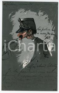 1905 ca FRANCE - SATIRE Old soldier ILLUSTRATED Postcard FP VG