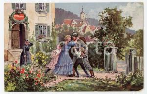1920 ca DEUTSCHES HEER Glückliches wiedersehen ILLUSTRATED Postcard FP NV