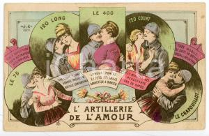 1910 ca FRANCE - HUMOUR L'artillerie de l'amour - Carte postale ILLUSTRÉE FP NV