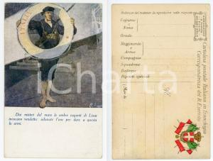 1915 REGIA MARINA ITALIANA Marinaio con salvagente - Ill. Ugo FINOZZI Cartolina