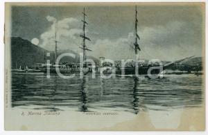 1900 REGIA MARINA ITALIANA Veliero Amerigo VESPUCCI Cartolina FP VG