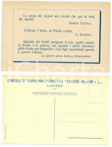 1915 ca WW1 - LIVORNO Cantieri ORLANDO Comitato propaganda patriottica Cartolina