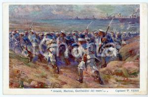 1912 TRIPOLI - GARIBALDINI DI MARE Pietro VERRI - Cartolina illustrata FP NV