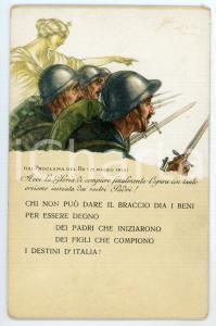 1915 WW1 Prestito nazionale consolidato 5% - Proclama del Re - Cartolina FP NV