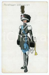 1943 REGIO ESERCITO Cavalleggeri di Lucca 16° Reggimento Cartolina ILLUSTRATA