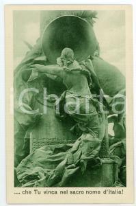 1915 ca WW1 Che tu vinca nel sacro nome dell'Italia - Cartolina FP NV