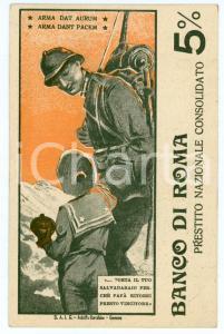 1917 BANCO DI ROMA Prestito nazionale consolidato 5% Arma dant pacem - Cartolina