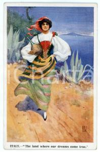1915 WW1 OUR FAIR ALLIES Italy: the land where the dream come true - Postcard