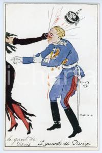 1917 WW1 - SATIRA Il guanto di Parigi - Illustratore BIANCHI Cartolina FP NV