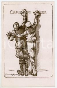 1918 Artista Giorgio MUGGIANI Comitato Savoia pro orfane - Cartolina ILLUSTRATA
