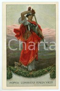 1915 ca WW1 - VI Prestito Nazionale - Populi consulto Italia vicit - Cartolina
