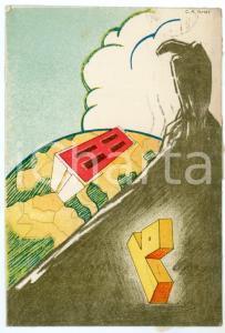 1939 MAK P 100 Regia Accademia Aeronautica - Ill. C. A. ARIAS - Cartolina FG VG