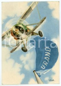 1941 MAK P 100 Regia Accademia Aeronautica - Corso Urano - Cartolina ILLUSTRATA