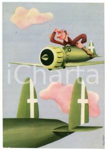 1945ca ARMA AERONAUTICA La scorta ai bombardieri - Ill. di TESTA Cartolina FG NV