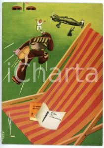 1945ca ARMA AERONAUTICA La partenza su allarme - Ill. di TESTA Cartolina FG NV