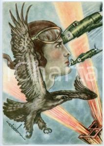 1942 MAK P 100 Regia Accademia Aeronautica - Corso VULCANO Cartolina FG NV