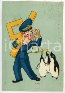1939 MAK P 100 Regia Accademia Aeronautica REX Illustrazione di KING Cartolina