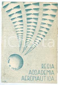 1940 ca MAK P 100 Regia Accademia Aeronautica REX Cartolina ILLUSTRATA FG VG