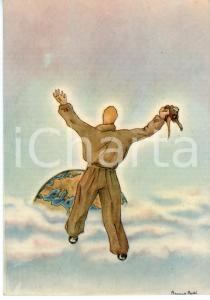 1941 MAK P 100 Regia Accademia Aeronautica - Corso URANO Cartolina ILLUSTRATA FG