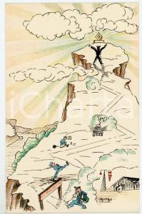 1940ca MAK P 100 Regia Accademia Aeronautica XI Corso Integrazione *Cartolina FP