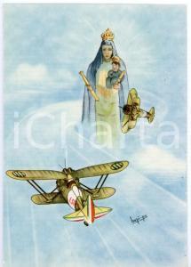 1942 MAK P 100 Corso VULCANO Madonna protegge gli aviatori - Cartolina FG NV